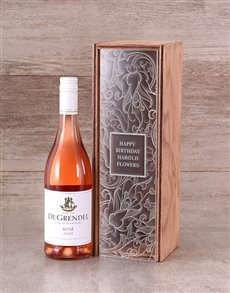gifts: Personalised Perspex Lid Wine Crate!