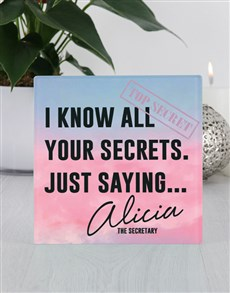 gifts: Personalised Your Secrets Glass Tile!