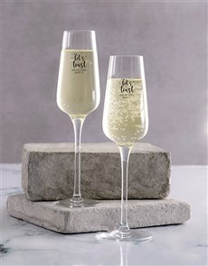 gifts: Personalised Lets Toast Champagne Glass Set!