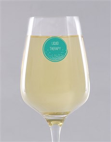 gifts: Personalised Liquid Therapy Wine Glass!