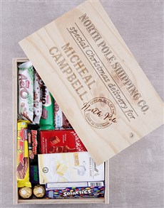 gifts: Personalised Christmas Delivery Chocolate Crate!