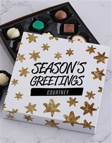 gifts: Personalised Seasons Greetings Choc Tray!