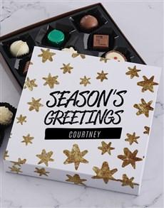 gifts: Personalised Seasons Greetings Choc Tray!