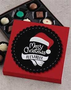 gifts: Personalised Christmas Santa Choc Tray!