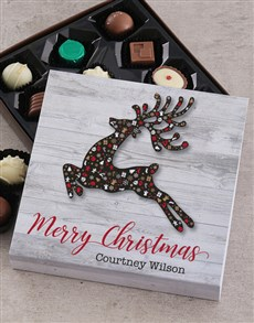 gifts: Personalised Christmas Reindeer Choc Tray!