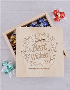 gifts: Personalised Best Wishes Lindt Crate!