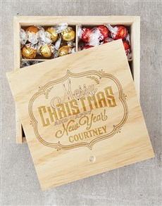 gifts: Personalised Merry Christmas Lindt Crate!