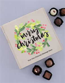 gifts: Personalised Christmas Wreath Truffle Box!