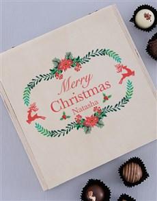 gifts: Personalised Christmas Joy Truffle Box!