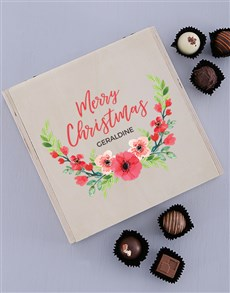 gifts: Personalised Floral Christmas Truffle Box!