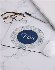 gifts: Personalised Floral Mouse Pad!
