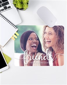 gifts: Personalised Friends Photo Mouse Pad!