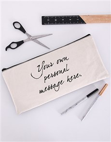 gifts: Personalised Message Pencil Bag!