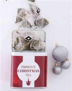 gifts: Personalised Christmas Tea Tin!