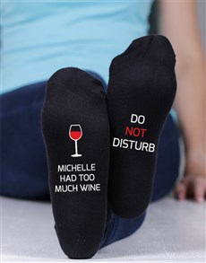 gifts: Personalised Too Much Wine Socks!