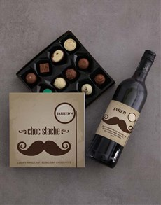 gifts: Personalised Choc Stache Chocolate!