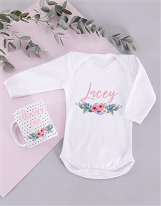 Order baby personalised gifts online personalise your gift gifts personalised floral mommy and baby gift negle Gallery