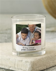 gifts: Personalised In Loving Memory Photo Candle!