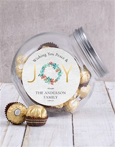 gifts: Personalised Peace and Joy Candy Jar!