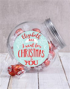 gifts: Personalised All I Want Candy Jar!