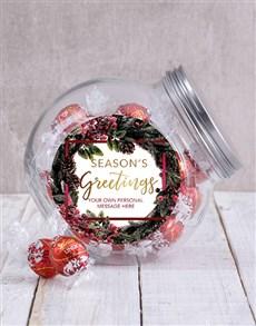 gifts: Personalised Seasons Greetings Candy Jar!
