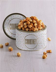 gifts: Personalised Dotty Popcorn Tin!