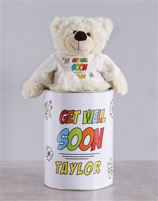 gifts: Personalised Speedy Recovery Teddy Tin!