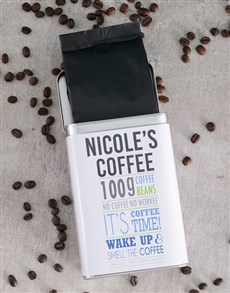 gifts: Personalised Generic Coffee Tin!