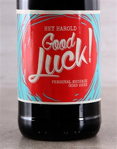 gifts: Good Luck Personalised Wine!
