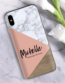 gifts: Personalised Blush Marble iPhone Cover!
