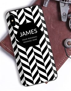 gifts: Personalised Herringbone iPhone Cover!