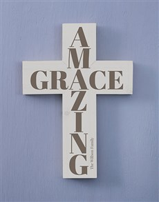 gifts: Personalised Amazing Grace Cross Wall Art!