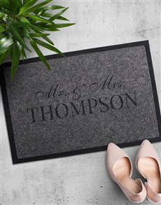 gifts: Personalised Mr and Mrs Doormat!