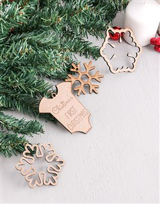gifts: Personalised First Christmas Decor!