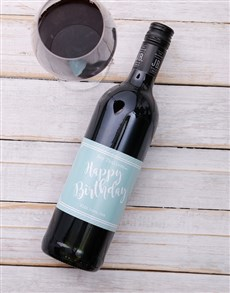 gifts: Happy Birthday Personalised Wine!