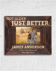 gifts: Personalised Not Older Frame!