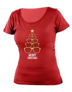 gifts: Personalised Christmas Sunglasses Ladies T Shirt!
