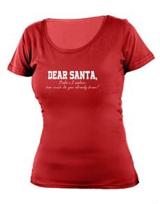 gifts: Personalised Dear Santa Ladies T Shirt!