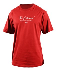 gifts: Personalised Family Christmas Mens T Shirt!