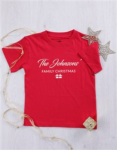 gifts: Personalised Family Christmas Kids T Shirt!