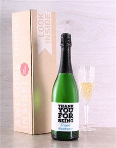 gifts: Thank You For Being Personalised Bubbly!