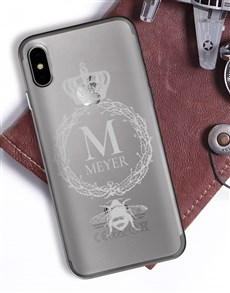 gifts: Personalised Crown Wreath iPhone Cover!
