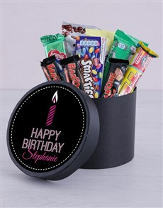 gifts: Personalised Birthday Candle Hat Box!