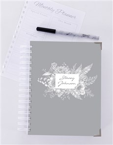 gifts: Personalised Floral Journal!