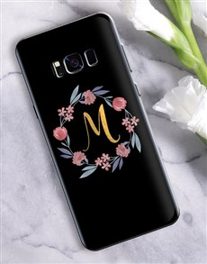gifts: Personalised Flower Wreath Samsung Cover!