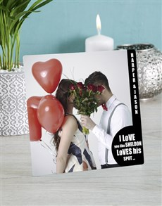 gifts: Personalised Love You Glass Tile!