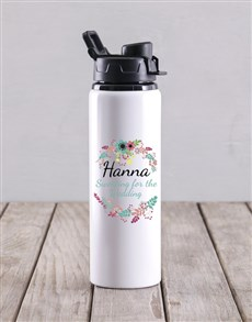 gifts: Personalised Sweating For The Wedding Water Bottle!