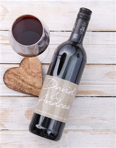 gifts: Personalised Couples Signature Wine!