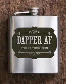 gifts: Personalised Dapper AF Hip Flask!