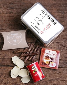 gifts: Personalised Love Graph Snack Tin!